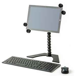 tablet holder on desk